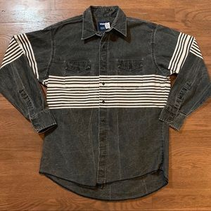 Vintage Wrangler Button Up Shirt Stripe Stone Wash